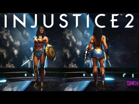 Wonder Woman Justice League Gear Showcase!!! | INJUSTICE 2