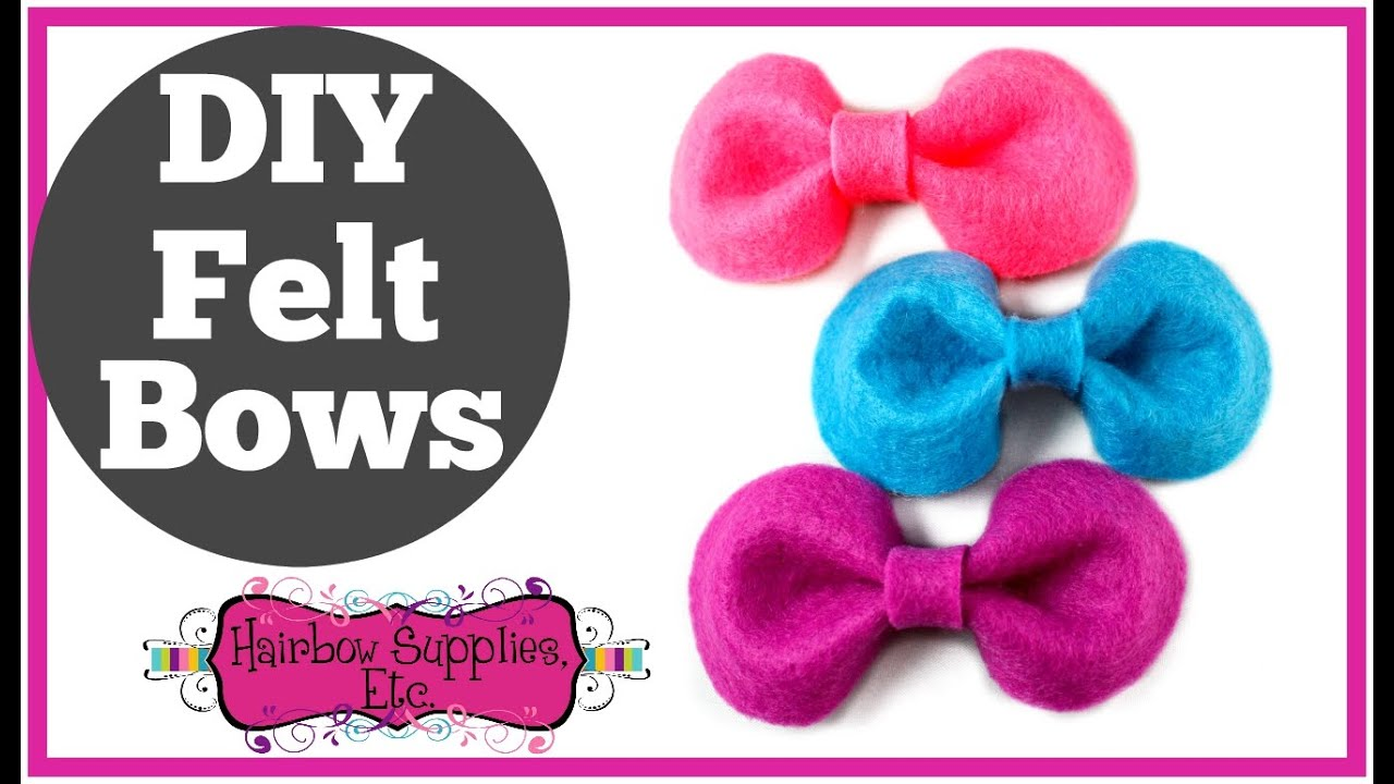 Diy felt bows felt bow tutorial hairbow supplies etc youtube pronofoot35fo Image collections