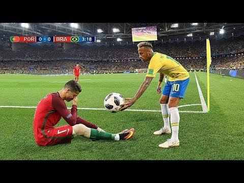 Futbol Yıldızları Birbirine Saygılı Olduğunda - Ronaldo, Messi, Neymar � İnanılmaz Anlar