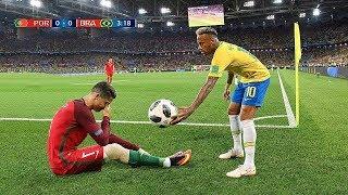 Futbol Yıldızları Birbirine Saygılı Olduğunda - Ronaldo, Messi, Neymar ● İnanılmaz Anlar
