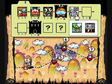 Yoshis Island Map map EXTENDED yoshis island all 7 themes   YouTube