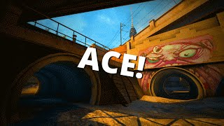 CS:GO | Ace + 1 Shot 2 Kills! ( ͡° ͜ʖ ͡°) 60FPS!