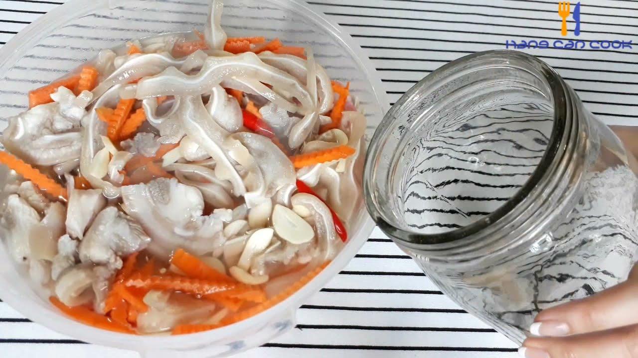 Món ngon ngày tết – Tai Heo Ngâm Chua Ngọt  gây nghiện | HANG CAN COOK