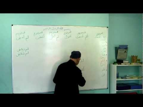 Shaykh Tijany: Arabic Course Lesson 9.2 - Verbs: Nominative, Accusative, Jussive states ..