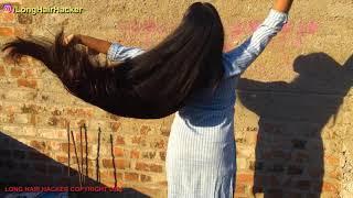 Rapunzel SONALI Silky Thick Long hair Flaunting & Hair Playing