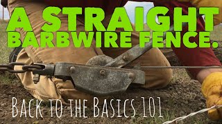 Straight Barbwire fence
