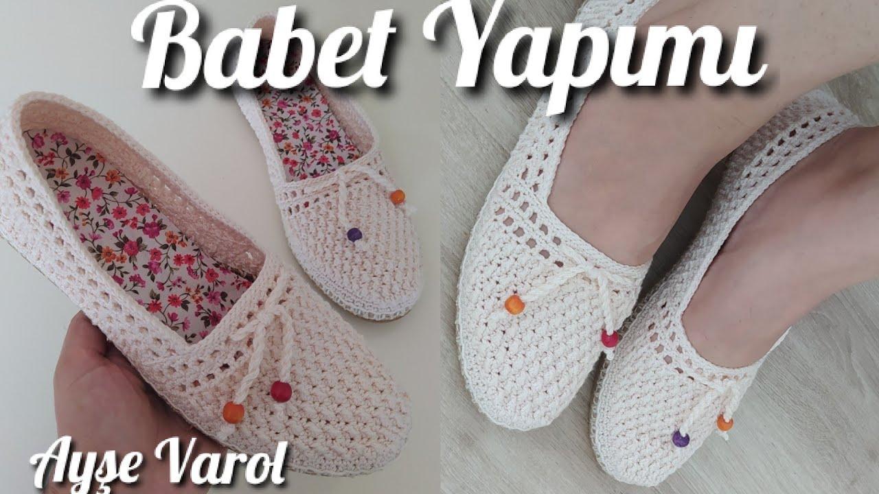 Yeni Model Hasır Taban Örgü Babet / Shoes, zapatos, Örgü Ayakkabı Yapımı / Model Ayşe Varol