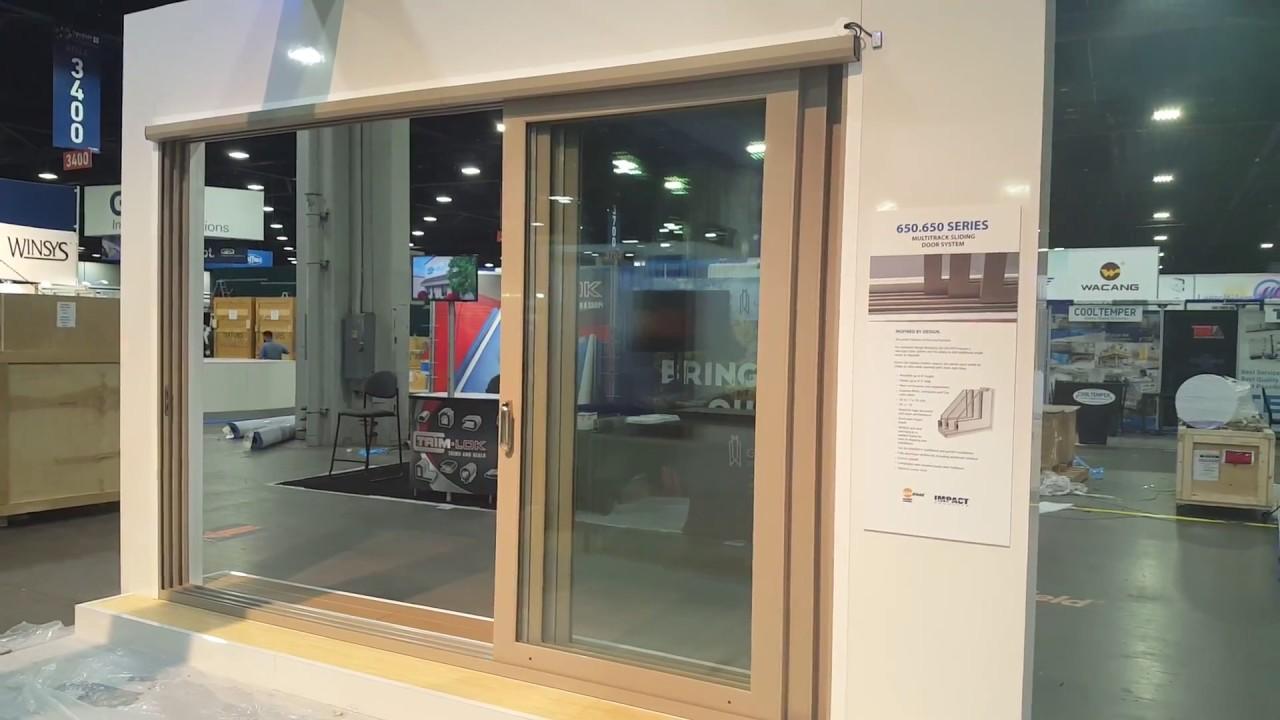 Deceuninck Three Panel Sliding Patio Door Automated By Autoslide