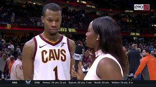 Rodney Hood: Cleveland's teamwork led to 'beautiful basketball' | CAVS-HAWKS POSTGAME