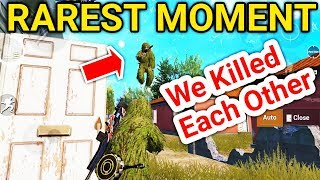 Me And Enemy Killed Each Other | PUBG Mobile Rare Moment