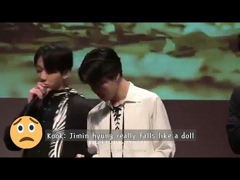 [ENG SUB] Does Jimin hurt himself when doing Fake Love choreo??