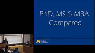 PhD Open House, Information Session, Part 1: Program Overview
