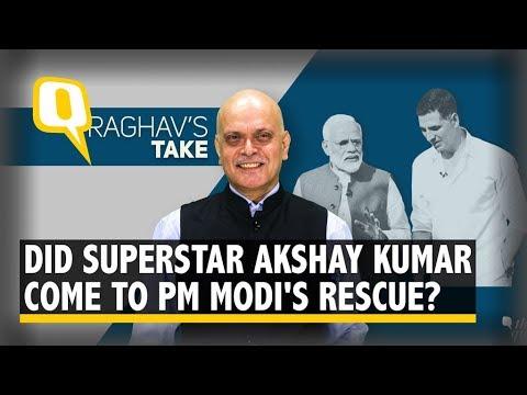How PM Modi Found a Saviour in Superstar Akshay Kumar   The Quint