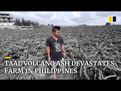 Taal Volcano ash