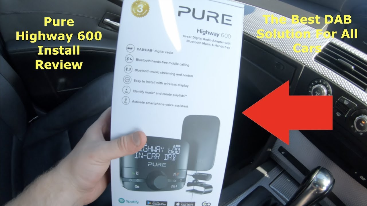 pure highway 600 dab review best bluetooth adapter for all cars cheap at 65 youtube. Black Bedroom Furniture Sets. Home Design Ideas
