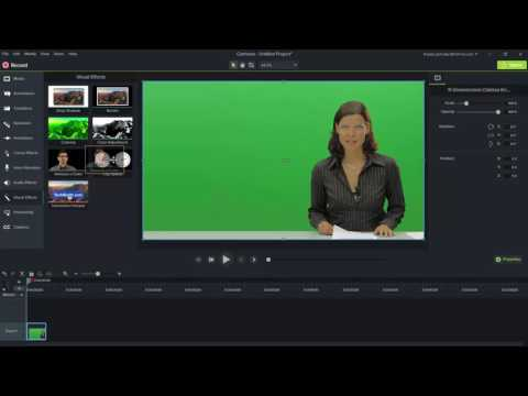 how to create greenscreen in camtasia