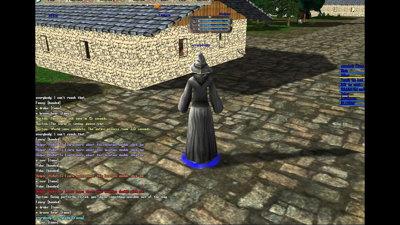 Ultima online newbie w iris2 3d renaissance shard youtube for Online 3d