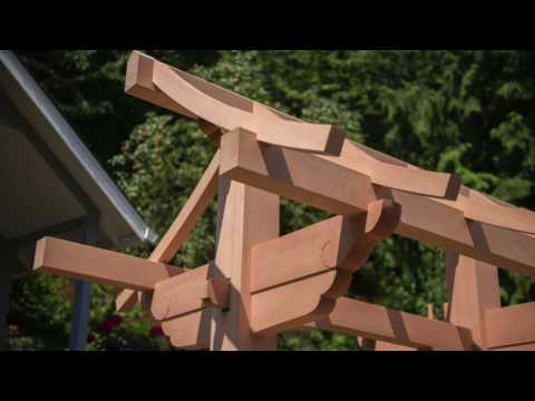 Woodworking, Japanese joinery, Garden Gate
