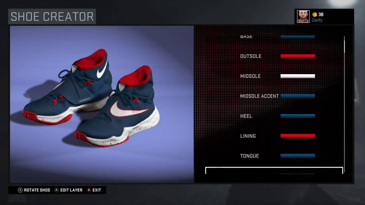 "NBA 2K16 Shoe Creator - Nike Hyperrev 2016 Custom ""USA ..."