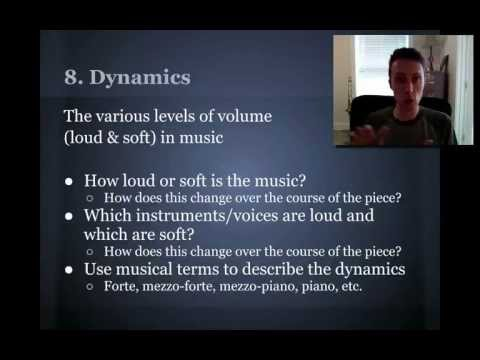Fine Arts Music Lesson 03  Elements of Music