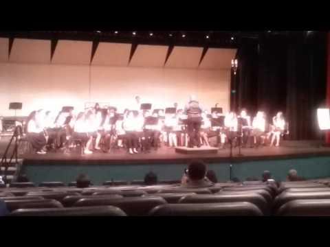 Edward harris jr middle school concert band elk Grove music festival 3/5/16