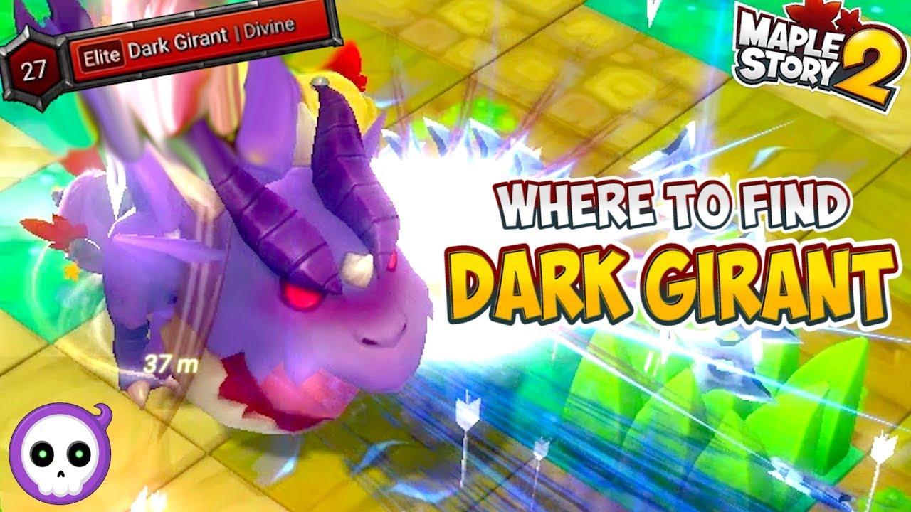 WHERE TO FIND DARK GIRANT BOSS - MapleStory 2 Main Quest Boss Location - Dark Girant