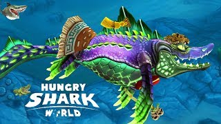NEW Poison Shark Draco Skin eats 'em ALL!!! - Hungry Shark World