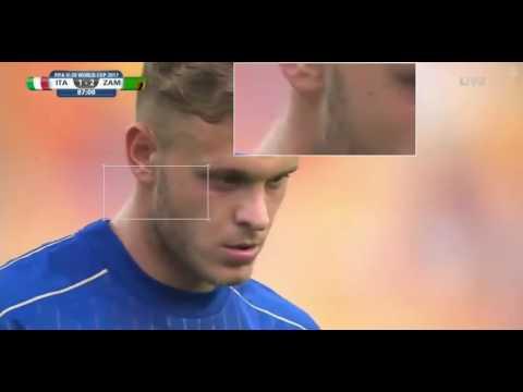 Il gran gol di Dimarco in Italia-Zambia 3-2
