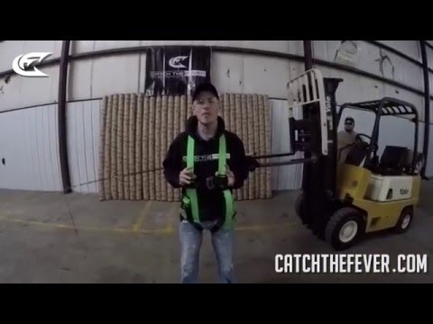MUST SEE!!! Catch The Fever Fishing Rod Deadlifts A Person! - Big Cat Fever Rod Series