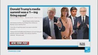 NY Post  'Donald Trump's media summit was a 'f—ing firing squad'