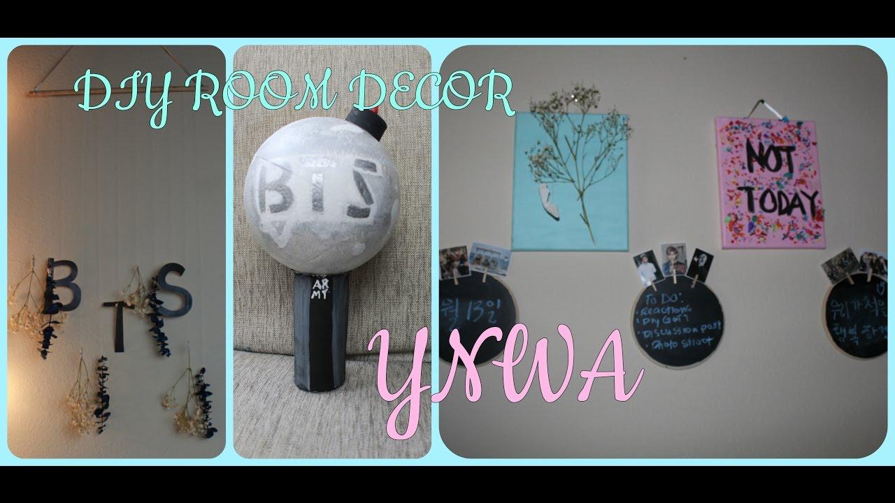 DIY KPOP ROOM DECOR | BTS EDITION - YouTube on Room Decor Bts id=87591