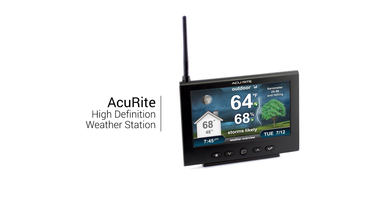 AcuRite High-Resolution Weather Station - YouTube