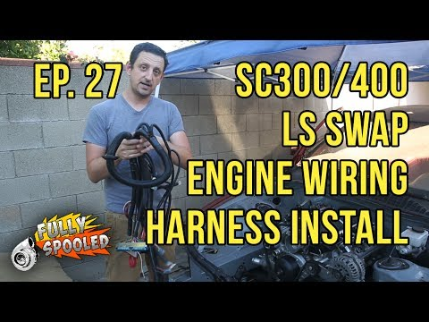 Lexus SC400 Drift Build. Ep.27 - Engine Wiring Harness/PCM/Starter Install