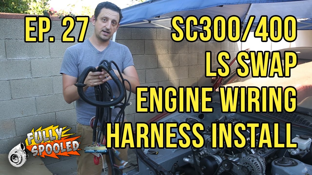 Lexus Sc Drift Build Ep27 Engine Wiring Harness Pcm Starter Install