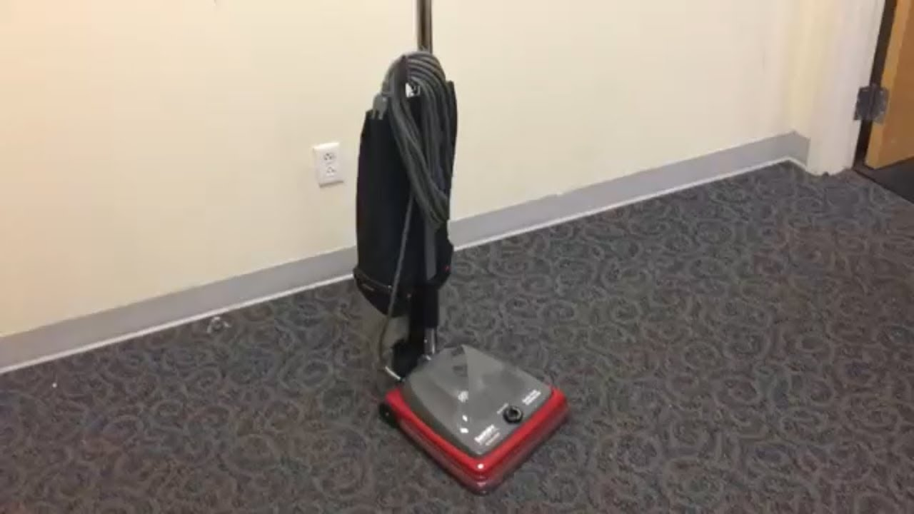 maxresdefault sanitaire sc689a bagless commercial upright vacuum youtube  at bayanpartner.co