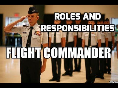 Roles and Responsibilities: Flight Commander