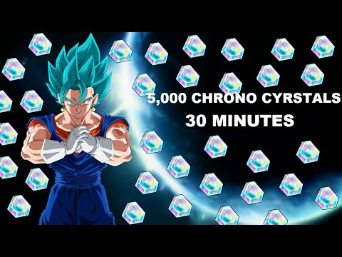 HOW TO EARN 5,000 CHRONO CYRSTALS IN 30 MINUTES GLITCH | Dragon Ball Legends