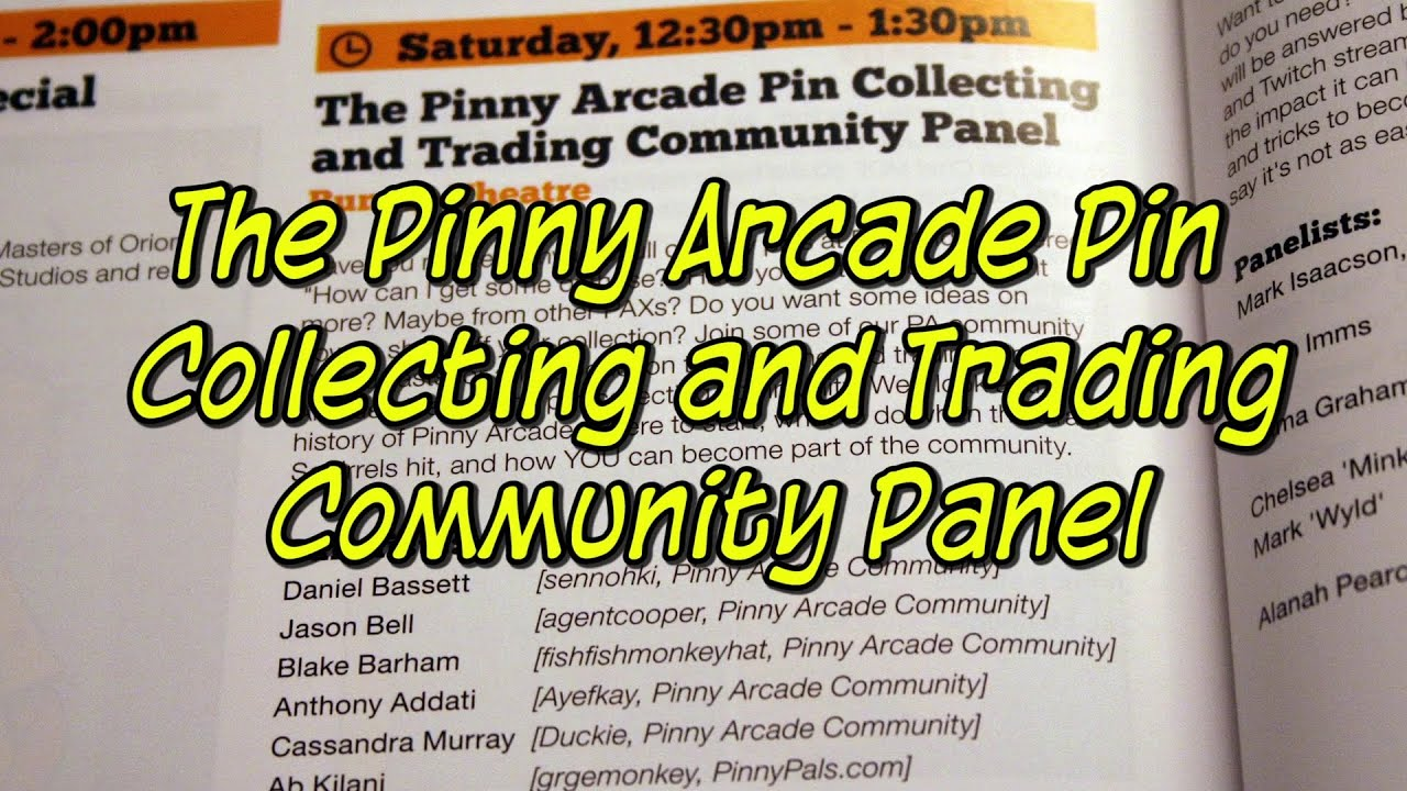 the pinny arcade pin collecting and trading community panel pax aus