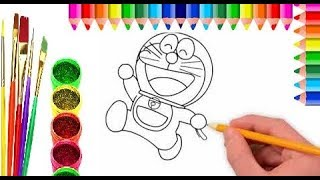 Doraemon  Coloring Pages for Kids Learn Drawing for Childrens,JOLLY TOY ART