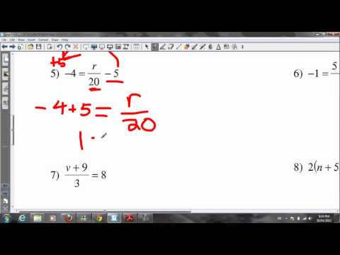 Algebra Grade 8 Tutorial