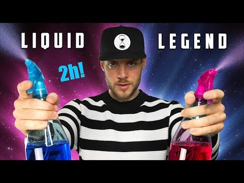ASMR LEGENDARY LIQUIDS - water sounds - 2 hours - no talking