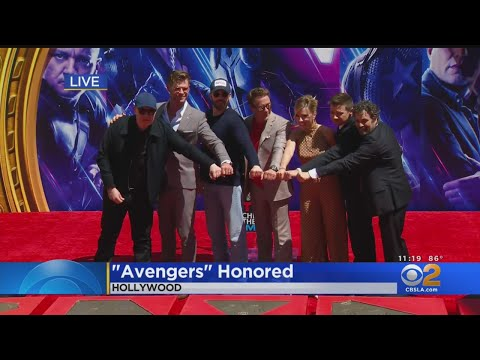 Original 'Avengers' Stars Immortalized At TCL Chinese Theatre