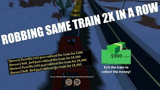 ROBLOX JAILBREAK ROBBING THE SAME TRAIN TWICE IN A ROW! [NEW]