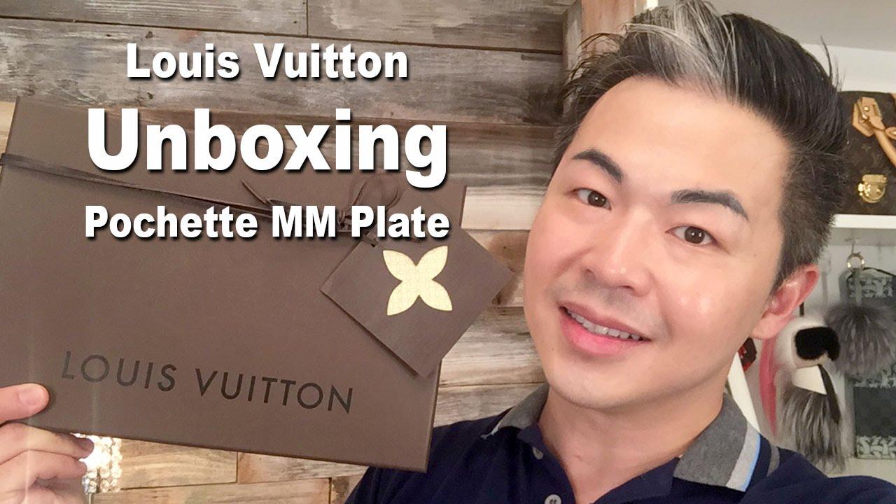 ee2fec317dc8 Louis Vuitton Pochette MM Plate Unboxing - YouTube