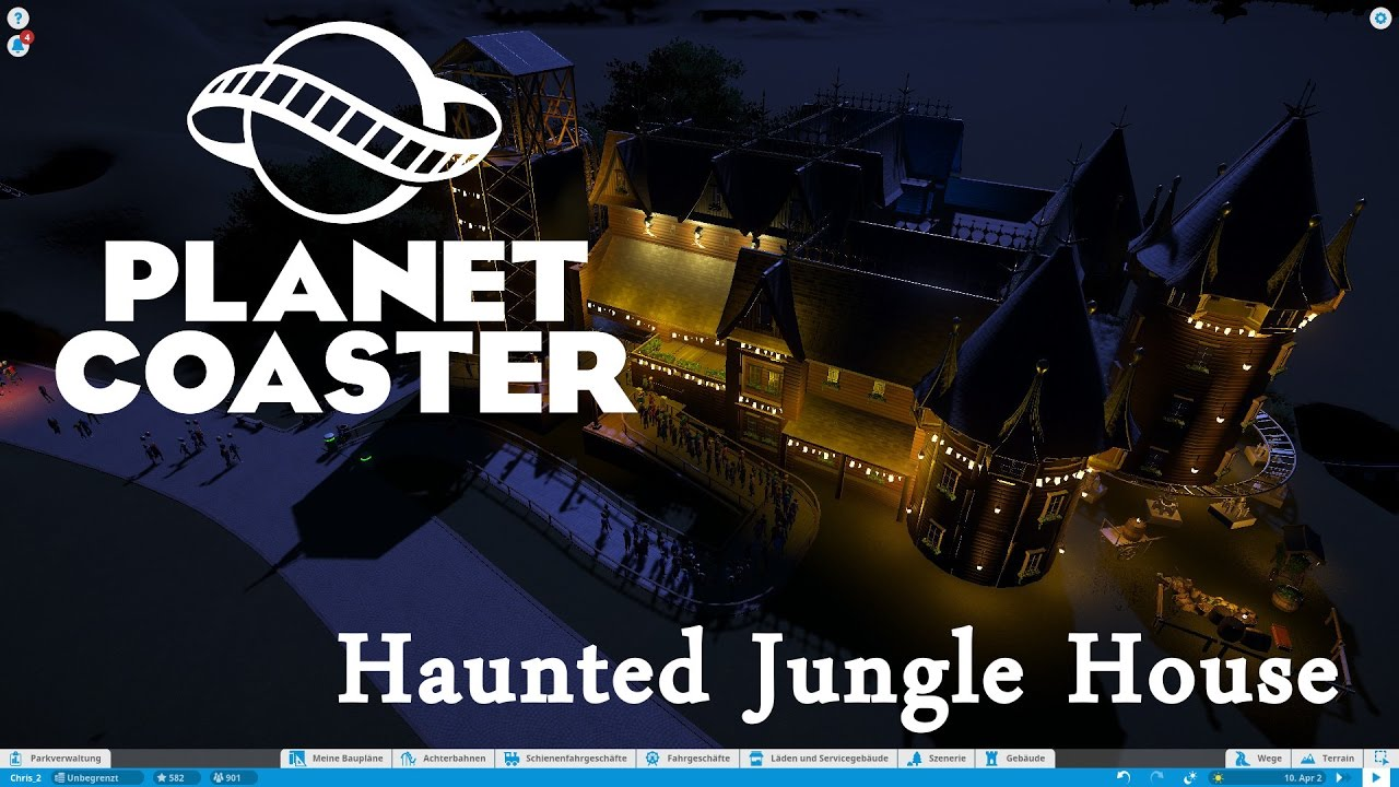 Planet coaster haunted jungle house youtube for Jungle house music