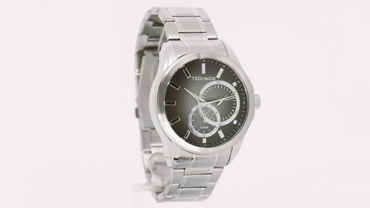 Relógio Technos Masculino Grandtech 6P22AD 1P - Eclock - YouTube 9c4f628356