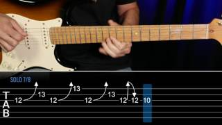 How To play Wanted Dead Or Alive SOLO GUITAR LESSON