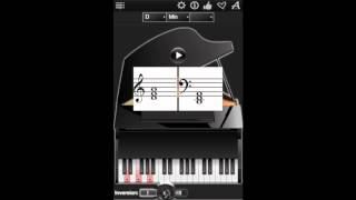 Piano Chords Compass App, shows more than 2500 chords for piano in HD !