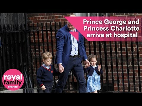 Prince William returns to hospital with Prince George and Princess Charlotte