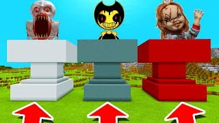 Minecraft PE : DO NOT CHOOSE THE WRONG ANVIL! (SCP-096, Bendy & Chucky)